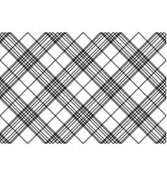 Simple black white tartan seamless pattern vector