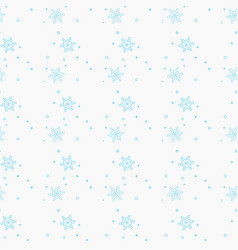 Snowflake simple seamless pattern blue snow on vector