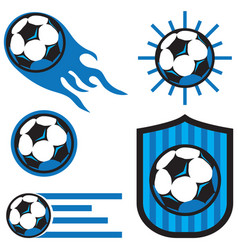 Soccer ball icon pack vector