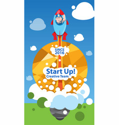 start up business concept design creative team vector image
