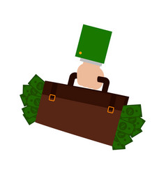 Suitcase with money vector
