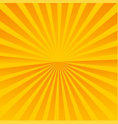 Sun rays orange background sunrise and sunset vector