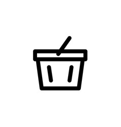 supermarket basket icon vector image