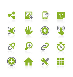 System icons interface natura series vector