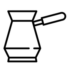 Traditional coffee pot icon outline style vector