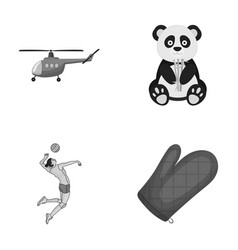 travel ecology exotics and other monochrome icon vector image