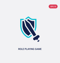 two color role playing game icon from gaming vector image