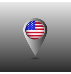USA flag marker vector