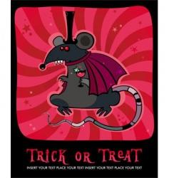 Vampire rat vector