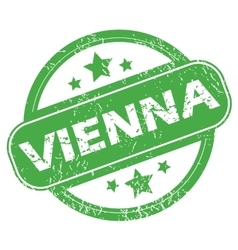 Vienna green stamp vector