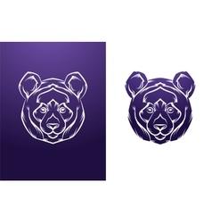 Vintage panda label retro design graphic vector
