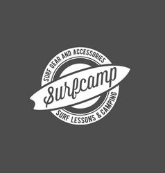 vintage surfing label badge and emblems vector image