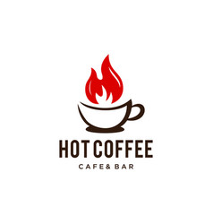 warm abstract coffee cup vector image