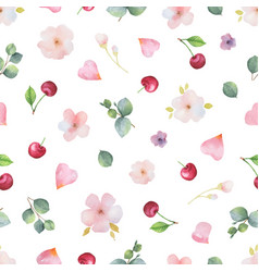Watercolor hand painted seamless pattern vector