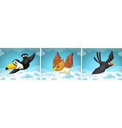 Wild birds flying in the sky vector image