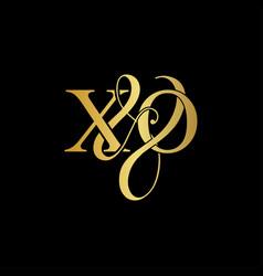 xo x o logo initial mark vector image