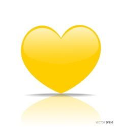 Yellow Heart vector image