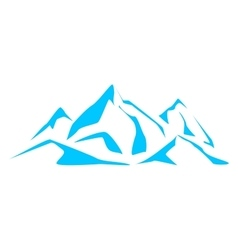 Abstract symbols blue mountains vector image vector image