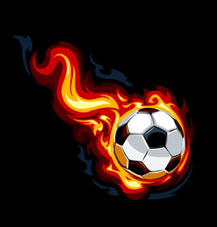 Burning soccer ball vector image