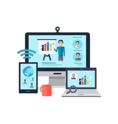 Business online seminar concept vector