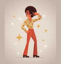 retro disco dancer character vector image