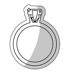 ring jewelry wedding outline vector image