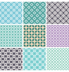 seamless ornament patterns vector image