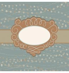 Vintage Copy Space Card vector image vector image