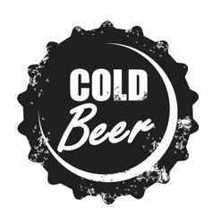 beer stamp vector image vector image