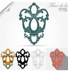 fleur de lis emblem heraldic symbol vector image