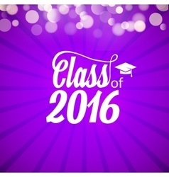 Hand drawn lettering typography Class of 2016 vector image
