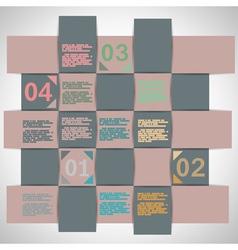 Paper strips for data presentation vector image vector image