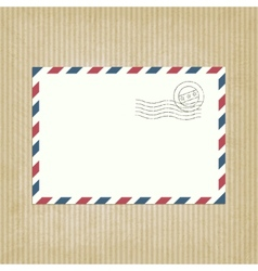 retro background with envelope vector image