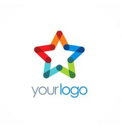 star colorful company logo vector image vector image