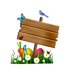 wooden board on a lown vector image