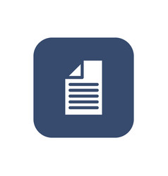 a piece of paper icon flat design vector image vector image
