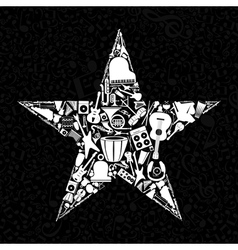 Musical star vector image