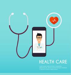 online medical consultation concept flat design vector image