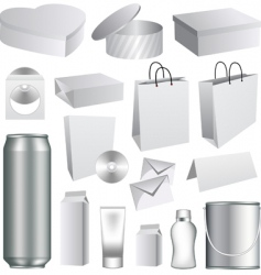 packaging templates vector image vector image