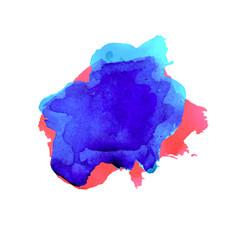 watercolor blot banner vector image