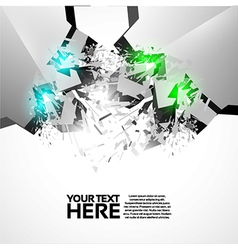 3D Shiny Explosion Speech Template vector image