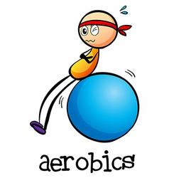 A stickman doing an aerobics vector