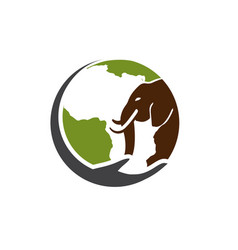 africa care animal logo designs and elephant vector image