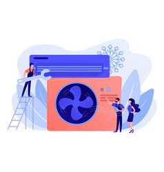 Air conditioning and refrigeration services vector