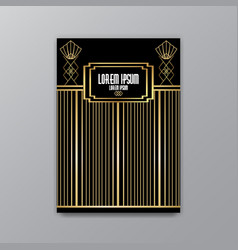 art deco elegant page template gatsby style vector image
