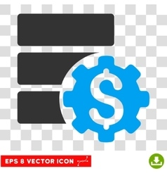 Bank Database Options Eps Icon vector image