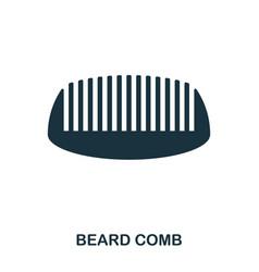 Beard comb icon flat style icon design ui vector