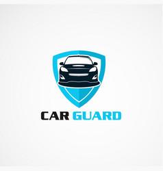 car guard insurance logo icon element vector image