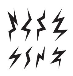 cartoon set of Lightning Bolts vector image