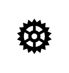cog gear flat icon vector image